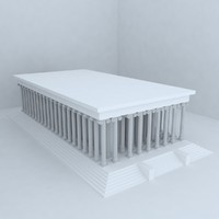 3d model apollon temple