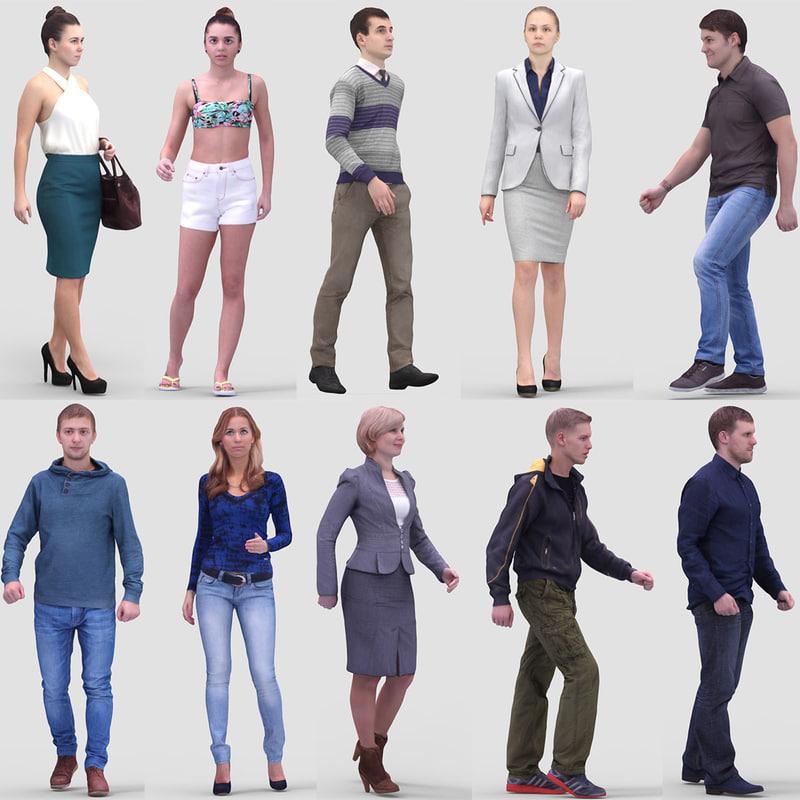 Realistic Humans 3d Max