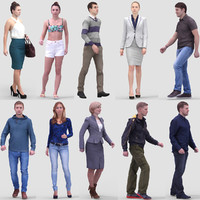 3D Human Model Vol. 2 Walking People