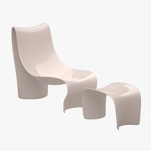 3d brasilia armchair chair