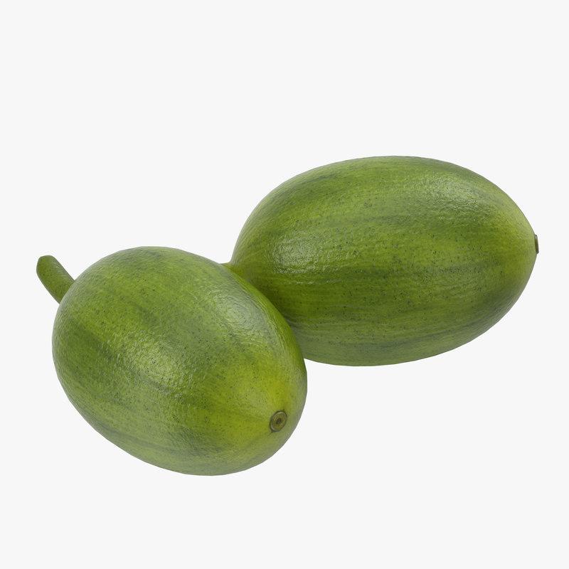 3d green coffee bean