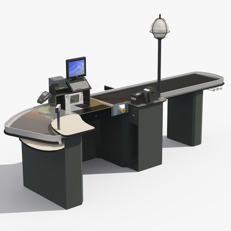 3d model cash tills