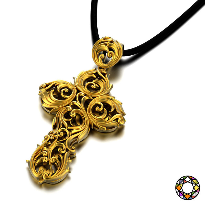 jewelry stylized cross 3d obj