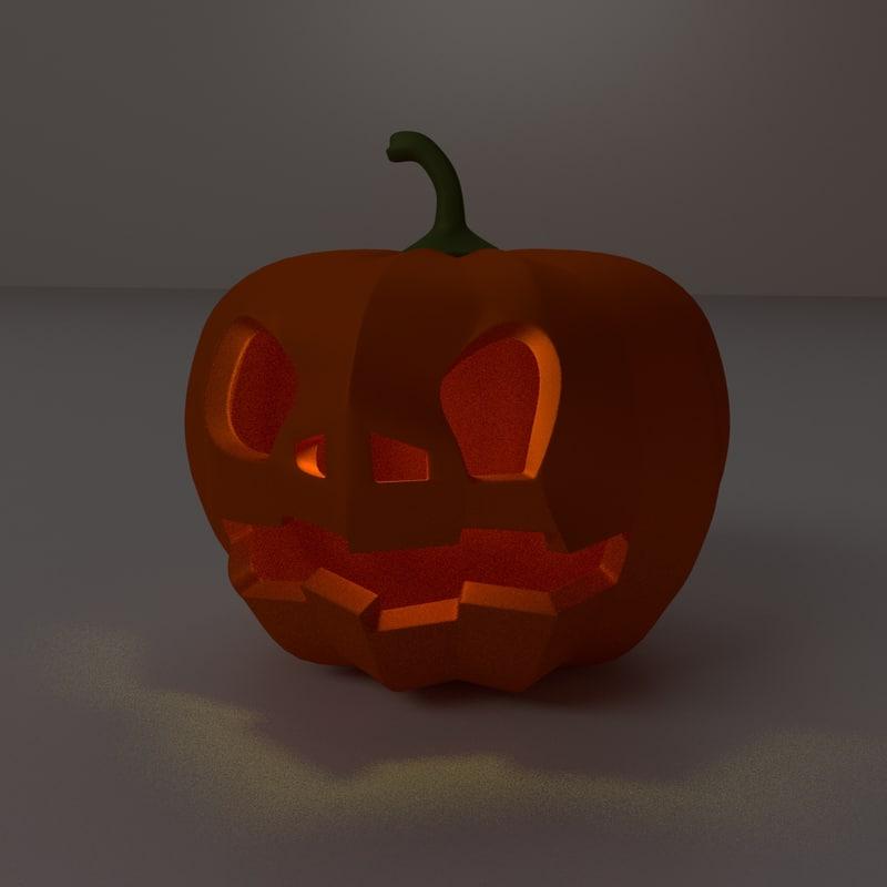 3ds halloween pumpkin