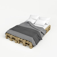 pallet bed 3d model