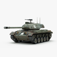 3d model m41 walker bulldog tank track