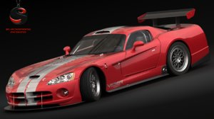 3d model dodge viper competition coupe