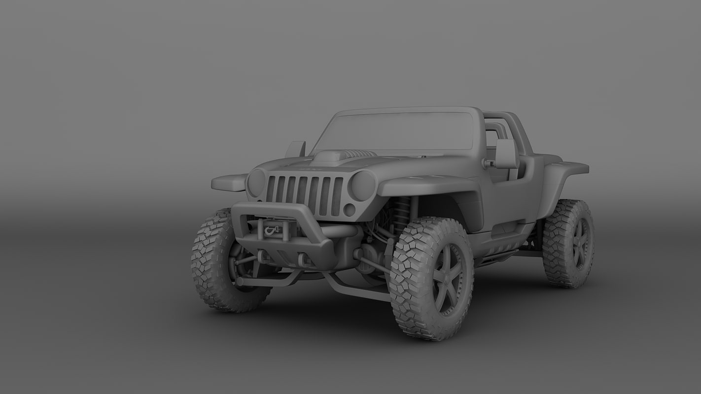 3d model jeep hurricane