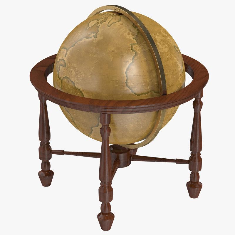 3ds max antique globe 2