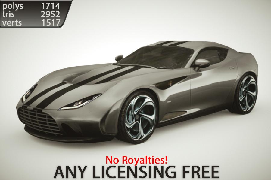 3d model of generic supercars colors car