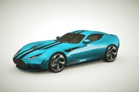 3d model of generic supercars colors car