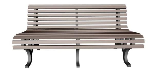 park bench 3d 3ds