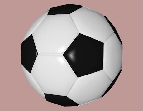 3ds max football soccer ball