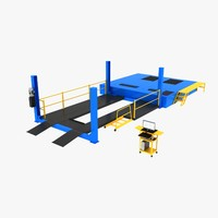 3d car wheel chassis cart model