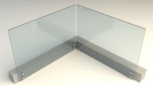 3d railing glass