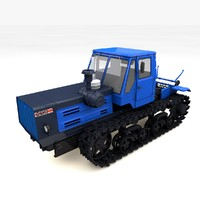 3ds max tractor t-150 crawler
