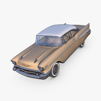 chevrolet bel air 1957 c4d