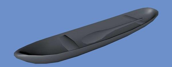 3d model canoe paddle
