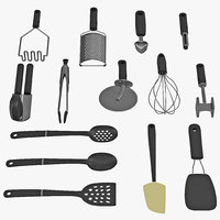Kitchen Tools 3D Models Set 2