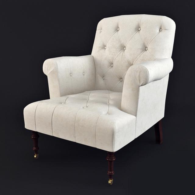 armchair lounge 3d model