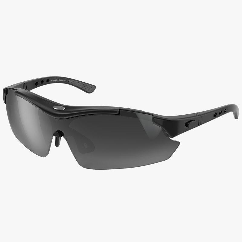 sport glasses black 3d max