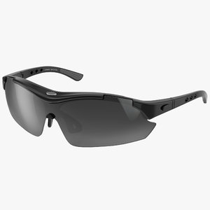 sport glasses black 3d max