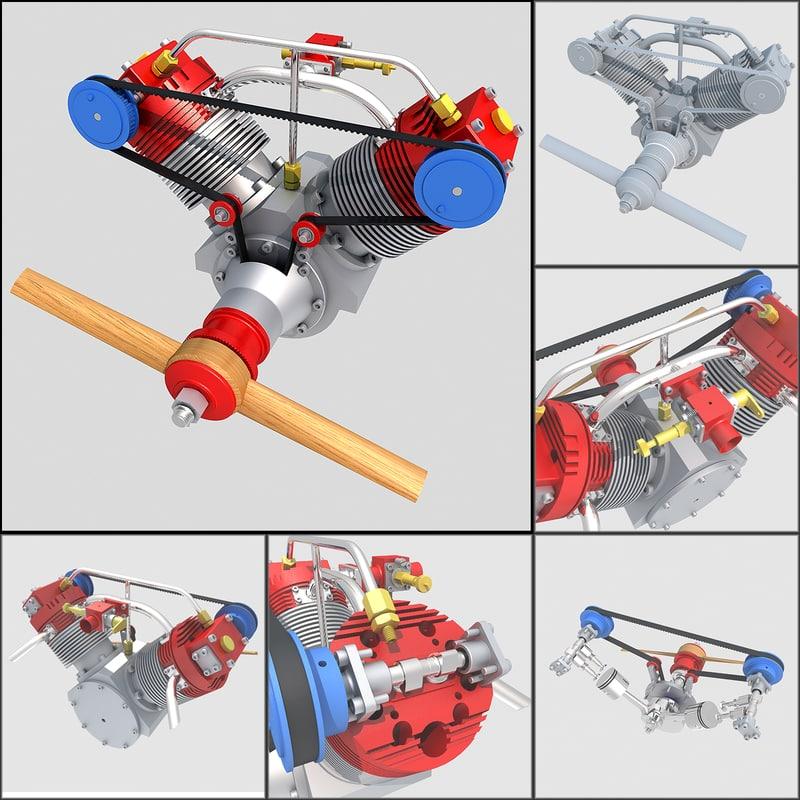 aircraft engine 3d 3ds