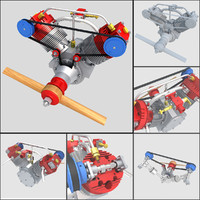 aircraft engine 3d 3ds