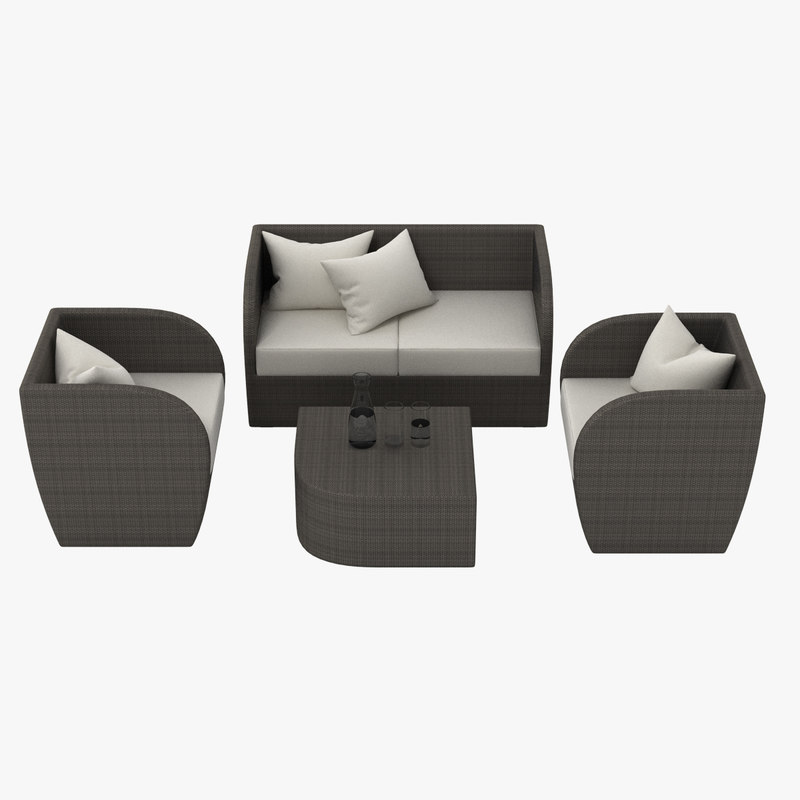 3d model outdoor lounge set