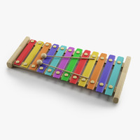 3d model of xylophone