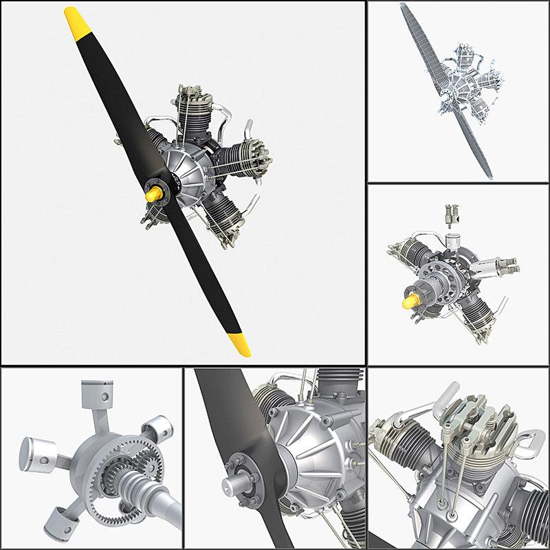 aircraft engine 3d max
