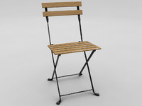 3d model wood chair
