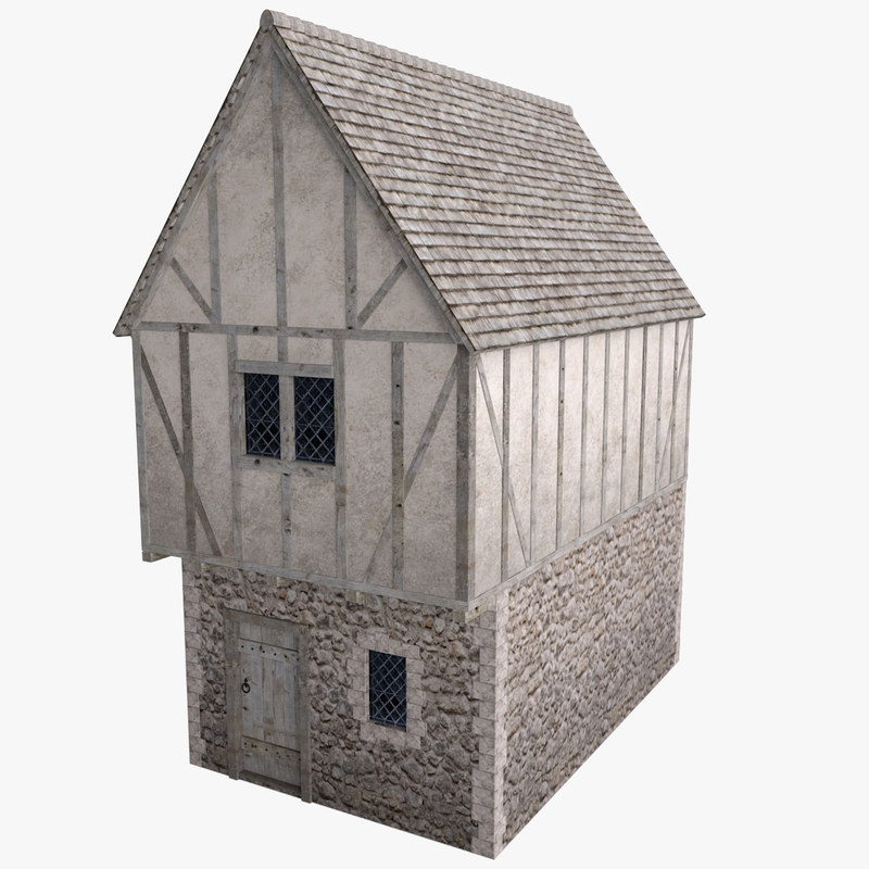 3d medieval town house model