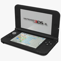 Nintendo 3DS XL White 3D Model