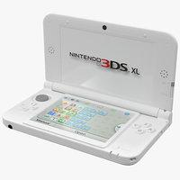 Nintendo 3DS XL White 3D Model