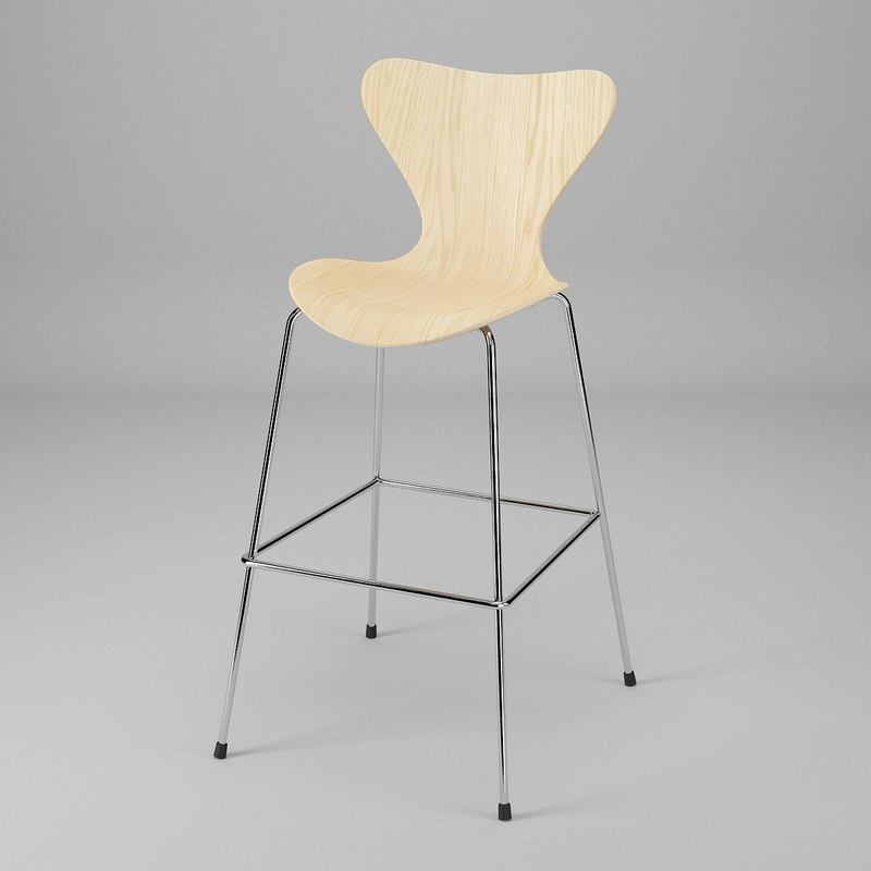 series 7 bar stool 3d dwg