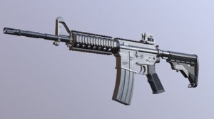 3ds max m4 rifle