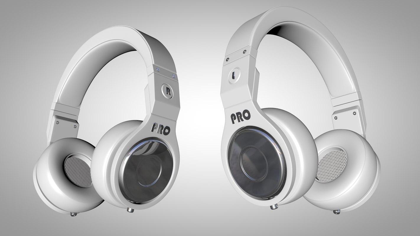 3d model headphones head phone