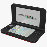 Nintendo 3DS XL Red 3D Model