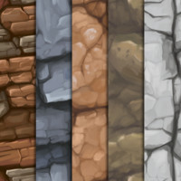 Hand Painted Rock Textures
