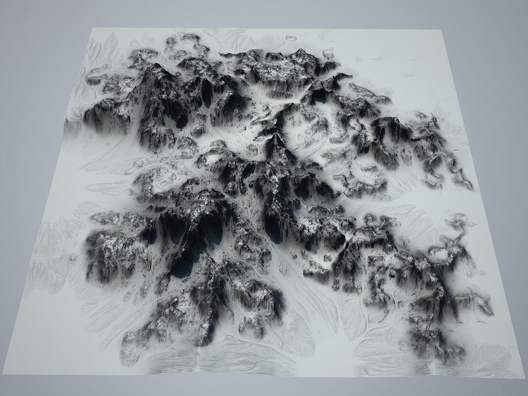 3d model of alien landscape 3d-model