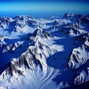snow mountain 2 3d max