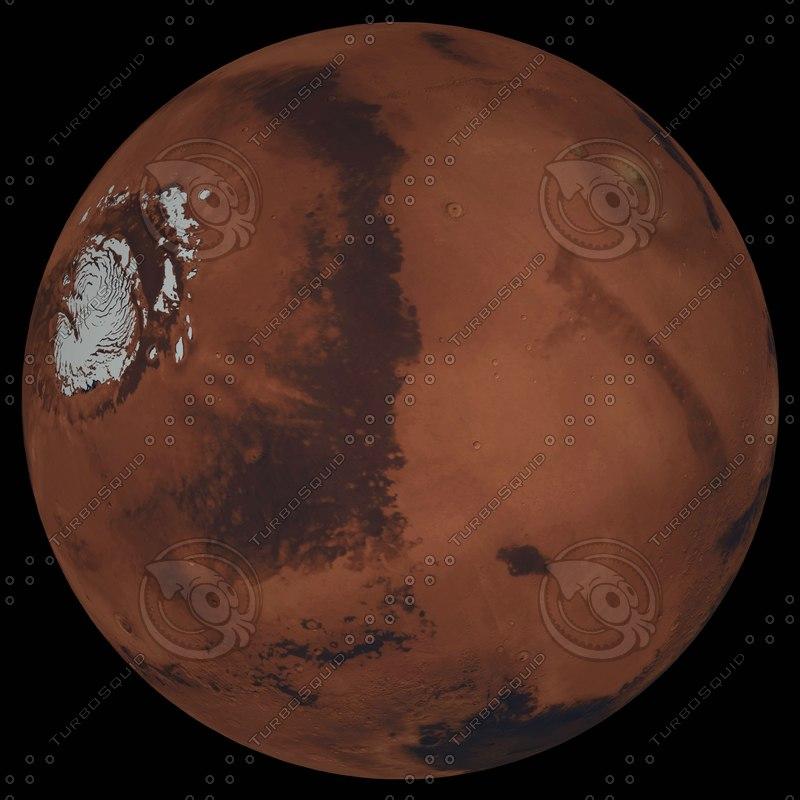 3d mars 32k surface color