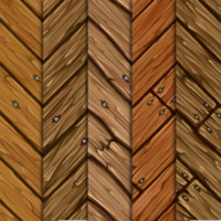 Hand Painted Plank Textures