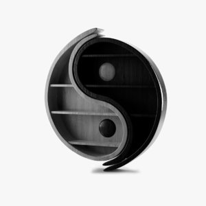 cinema4d bookshelf yin-yang