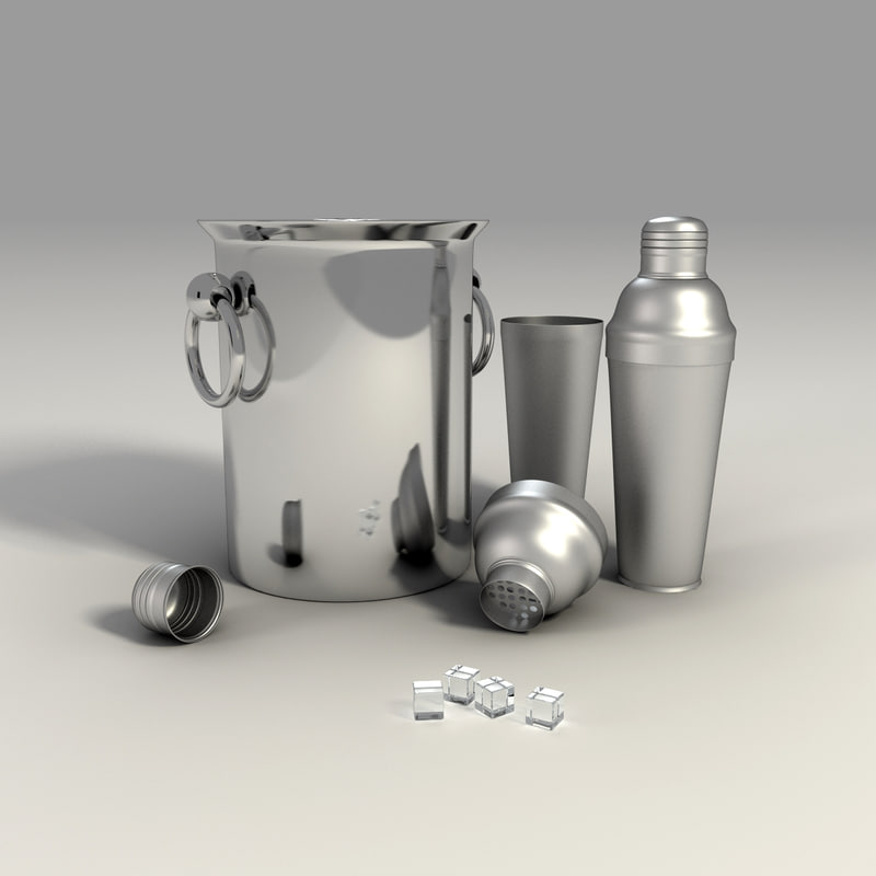 cocktail shaker bucket 3d max