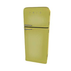 3d model of retro fridge