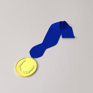 3d medallion medal model