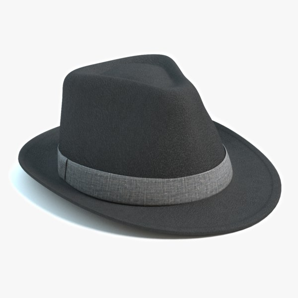 3d fedora hat