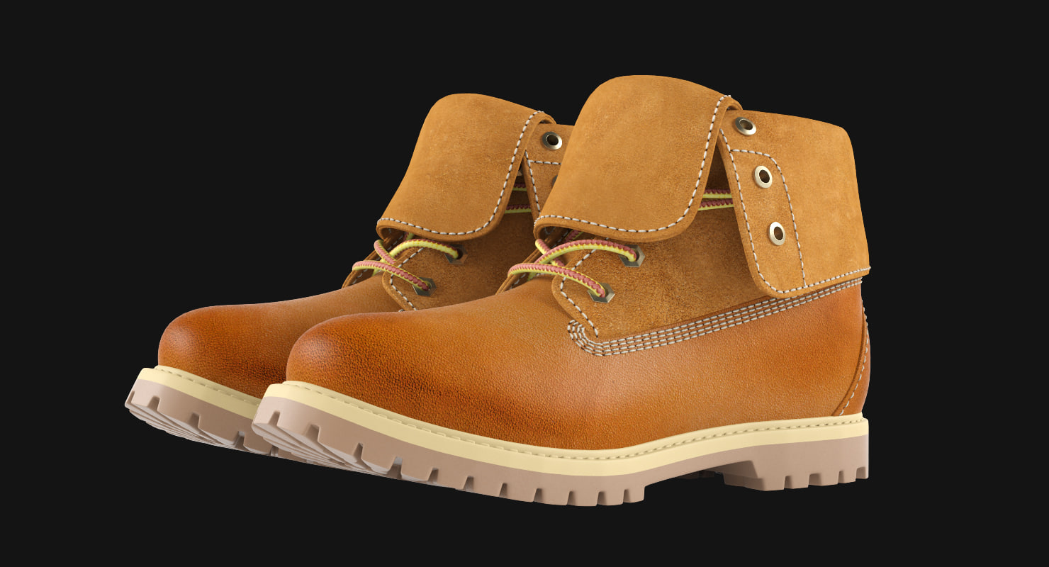 boot leather 3d max